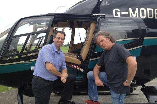 Carl (on the left) with James May